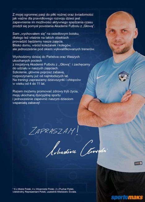Plakat promocyjny Akademii Futbolu z Głową
